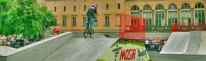 Concrete skate ramps